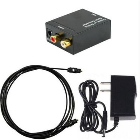 Digital Optical Coax to Analog- RCA L/R Audio Converter Adapter Fiber (Cables To Go Coax Optical Digital Audio Converter)