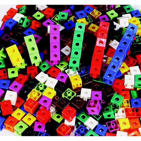 Childcraft Linking Manipulative Cubes with Container, Assorted Colors, Set of 400](Manipulative Toys)