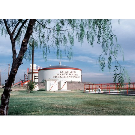 Canvas Print An overall view of the waste water treatment plant. Location: LUKE AIR FORCE BASE, ARIZONA (AZ) UNIT Stretched Canvas 10 x 14