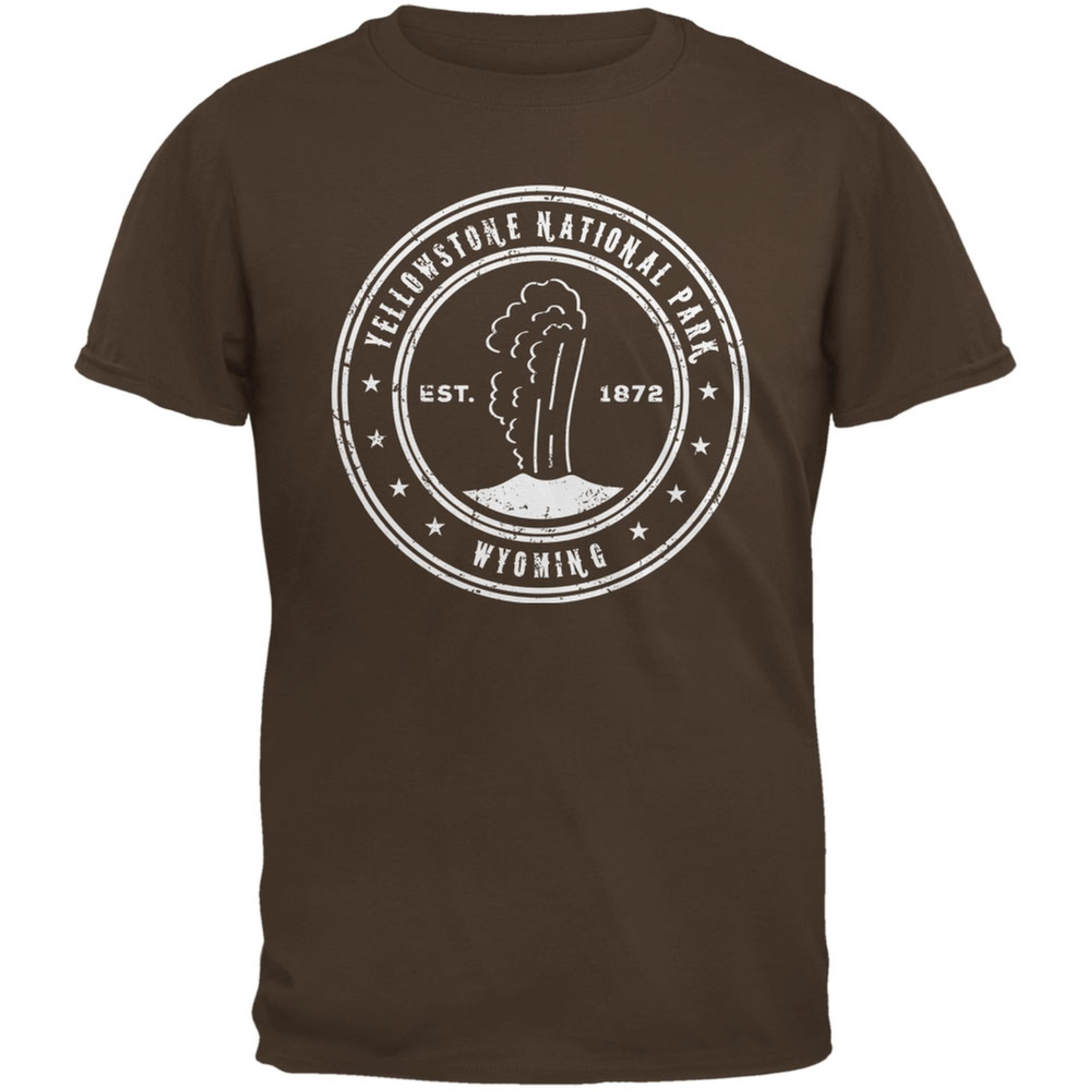 Yellowstone National Park Brown Adult T-Shirt