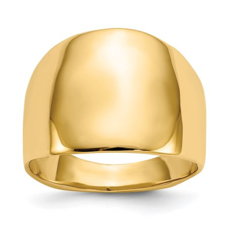 14K Yellow Gold Polished Dome Ring ()