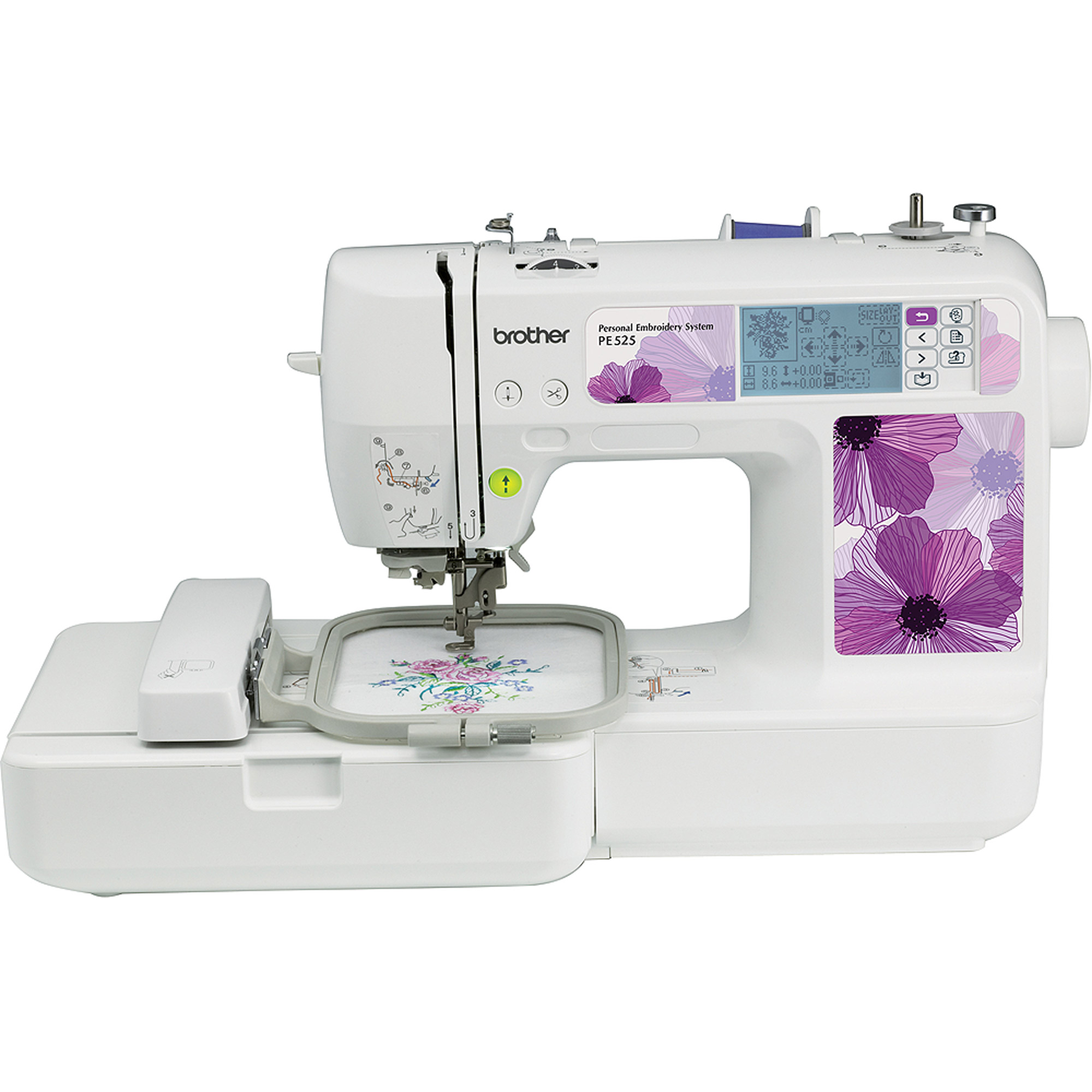 Brother PE525 Embroidery Machine with 70 Built-In Designs and 120 Frame Patterns