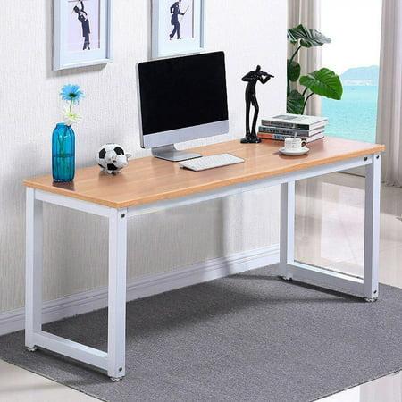 Ktaxon Wood Computer Desk PC Laptop Table Workstation Study Home Office Furniture,Brown