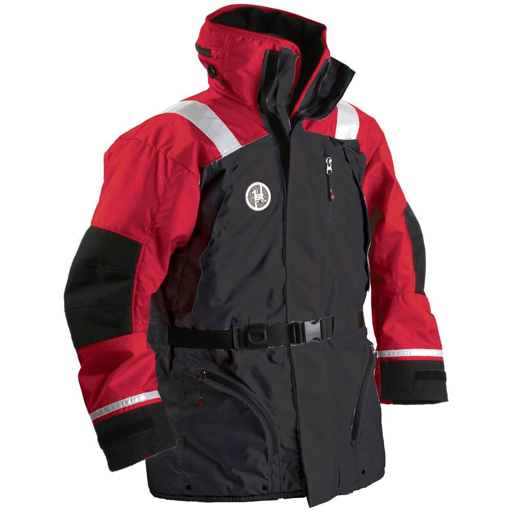 FIRST WATCH AC-1100 FLOTATION COAT MED RED/BLACK