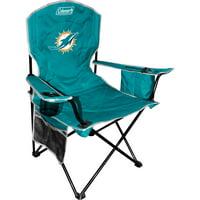 Miami Dolphins Coleman Cooler Quad Chair - Aqua