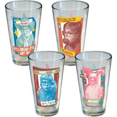 Image of A Christmas Story Retro Ralphie Pint Glasses, Set of 4