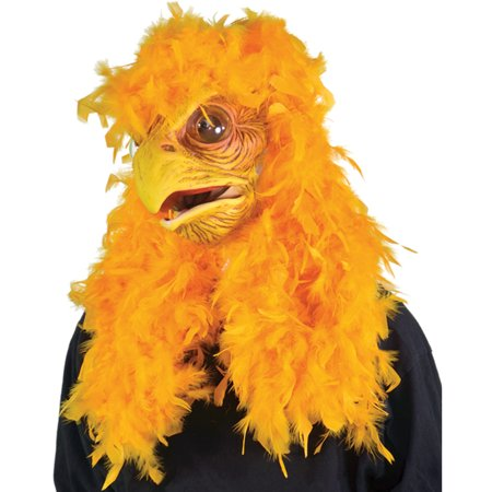 Zagone Moving Mouth Super Chicken Full Head Mask, Yellow, One Size](Chicken Masks)