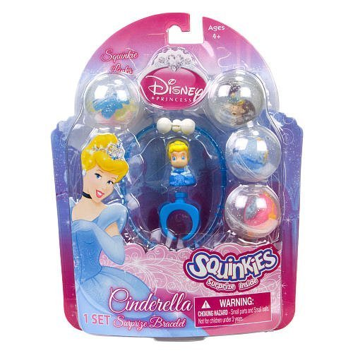 Disney Princess Cinderella Bracelet Bubble Pack, Surprise Cinderella braclet By Squinkies Ship from US