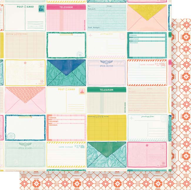 """Here & There Double-Sided Cardstock 12""""X12""""-Postcards"""