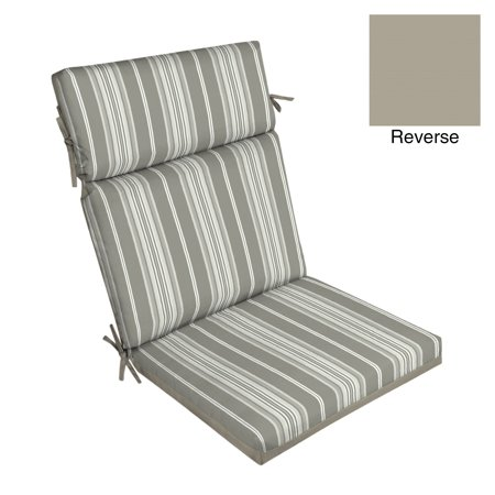 Better Homes & Gardens Gray Stripe 44 x 21 in. Outdoor Dining Chair Cushion w - 1 Outdoor Chair Cushions