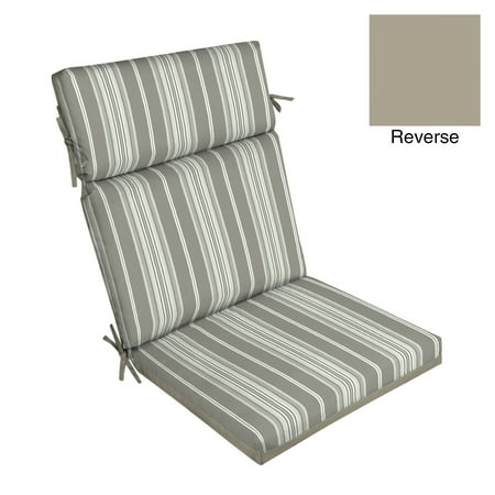 Better Homes & Gardens Gray Stripe 44 x 21 in. Outdoor Dining Chair Cushion w (Discount Outdoor Furniture Cushions)