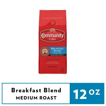 Community Coffee Breakfast Blend Medium Roast Ground Coffee, 12 oz (Target Coffee)