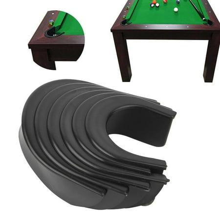 OTVIAP 6 Pcs Billiard Pool Table Hole Pocket Rubber Liners Accessory Set, Billiard Hole Liners, Billiard Accessory Pool Table Rubber