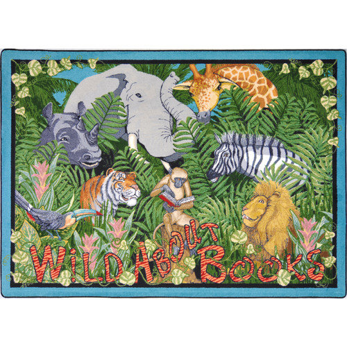Joy Carpets Educational Essentials Wild About Books Area Rug