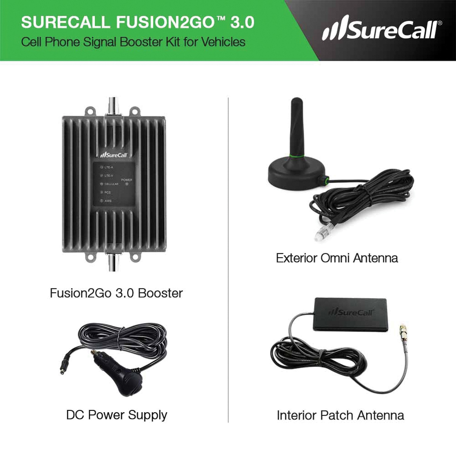 SureCall SC-FUSION2GO3 Fusion2Go 3 0 In-Vehicle Signal Booster Kit