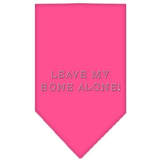 Mirage 67-43 LGBPK Leave My Bone Alone! Rhinestone Pet Bandana Bright Pink Large