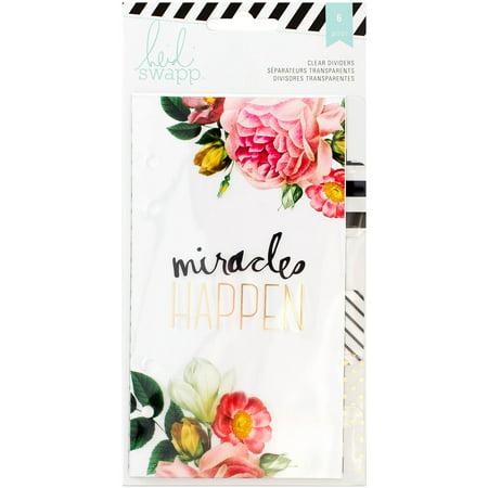 Heidi Grace Designs - Heidi Swapp Personal Memory Planner Dividers, 6pk, Clear with Printed Design