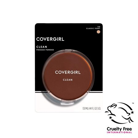 COVERGIRL Clean Pressed Powder Foundation, Classic Ivory 110, 0.39 Ounce (Packaging May Vary) Oil & Fragrance Free Lightweight Foundation Powder