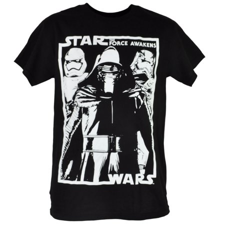 Disney Star Wars Kylo Ren Stormtroopers Villain Black T-shirt Tee Movie Mens MED