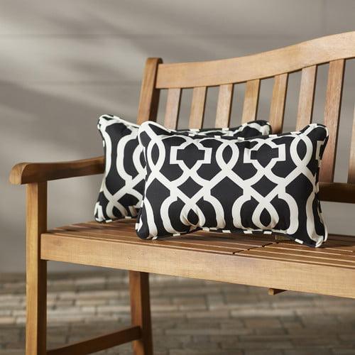 Brayden Studio Stark Outdoor Lumbar Pillow (Set of 2)