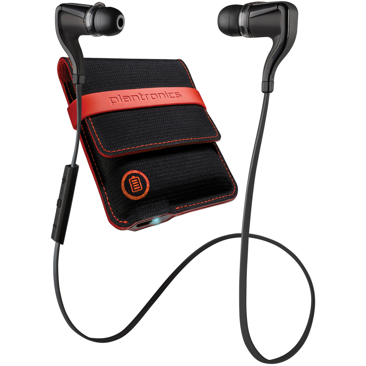 Refurbished Plantronics BackBeat Go 2 Bluetooth Wireless Earbud Headphones w/ Charging Case