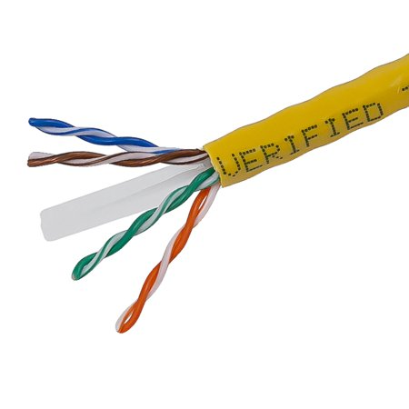 Monoprice Cat6 Ethernet Bulk Cable - Network Internet Cord - Solid, 500Mhz, UTP, CMR, Riser Rated,  Pure Bare Copper Wire, 23AWG, 1000ft,