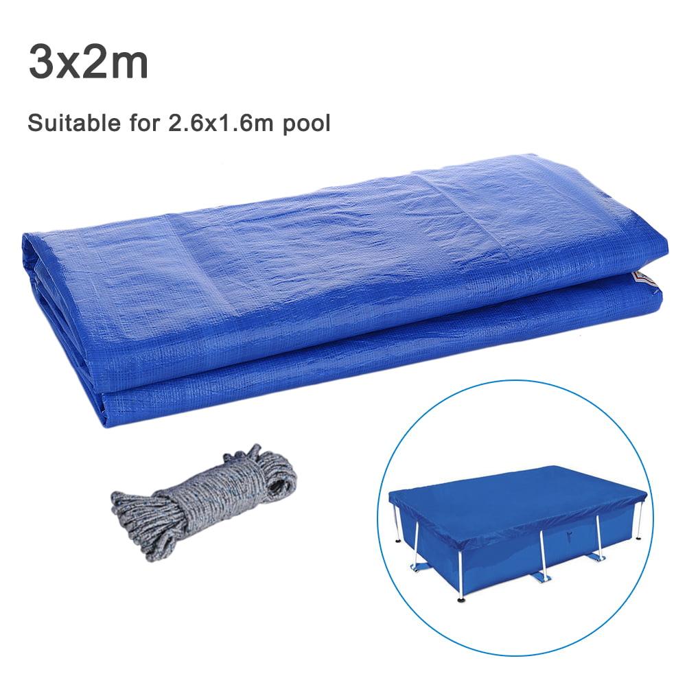 2020 Rectangular Swimming Pool Cover UV-resistant Waterproof Dust Cover Durable