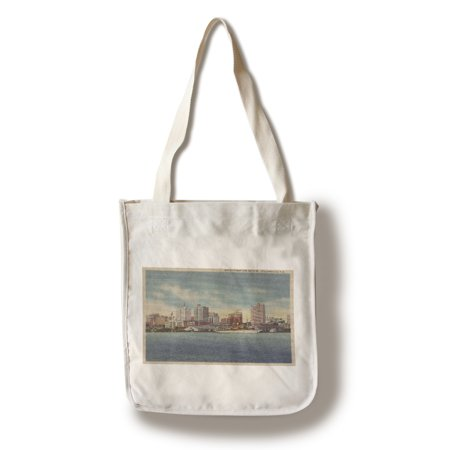 Jacksonville, FL - View of Water Front & Skyline (100% Cotton Tote Bag - Reusable)](Party Shop Jacksonville Fl)