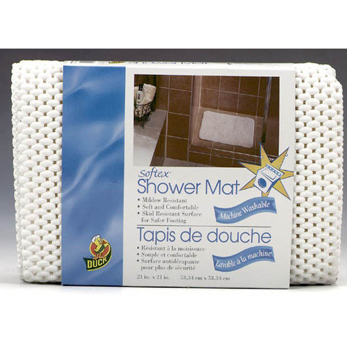 Henkel 442096 21-In. X 21-In. Shower Mat, White