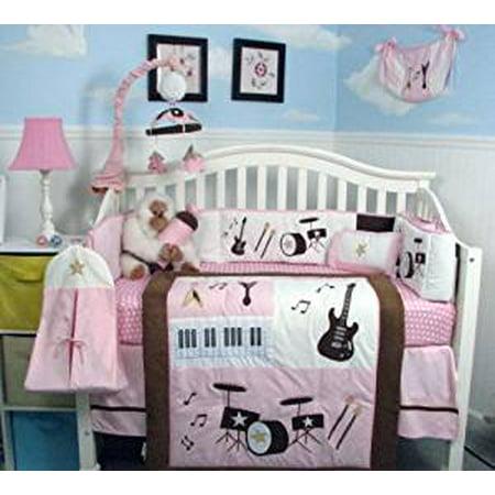 Soho Baby Princess Rock Band Complete Nursery Bedding Set