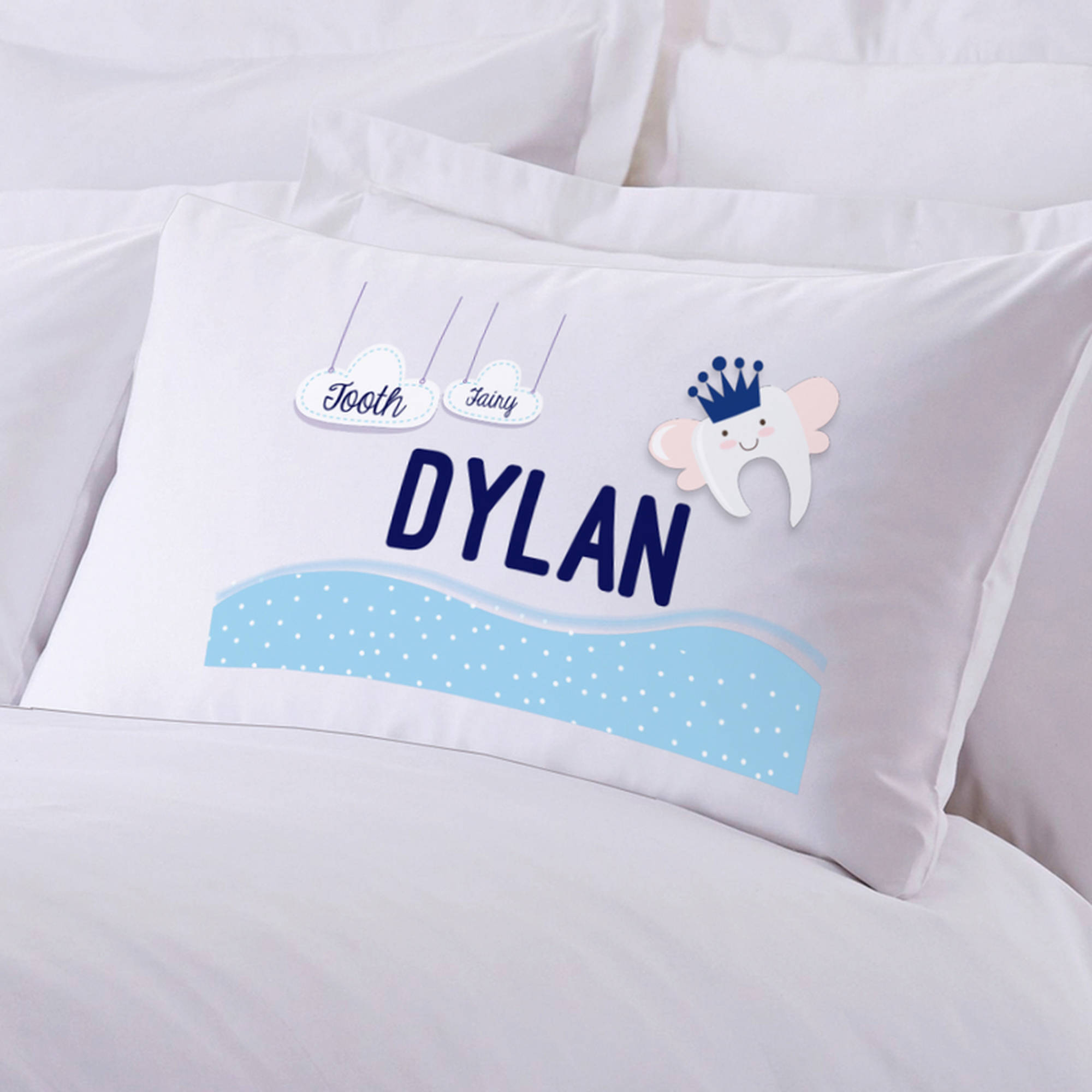 "Personalized Boy's Tooth Fairy Pillow Case, 20"" x 30"""