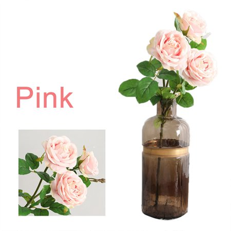 Simulation big rose three branches Anne roses fake flower single rose wedding supplies flower arrangement