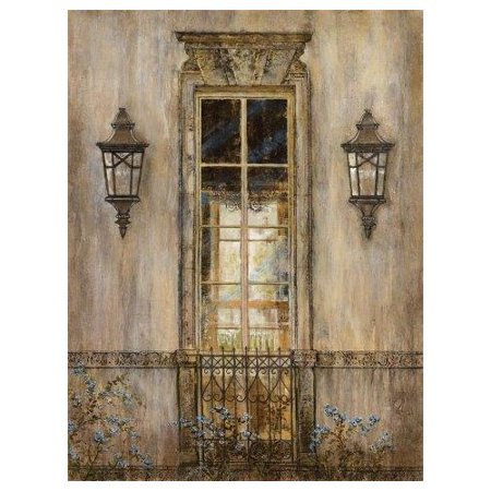 Portfolio Canvas Decor Garden View by Michael Longo Painting Print on Wrapped Canvas