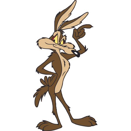 Wile E. Coyote Road Runner Cartoon Character TV Show Wall Sticker Vinyl Wall Art Decal for Baby Kid Bedroom Nursery Kindergarten Daycare Home Decor Stickers Vinyl Art Decoration Size (30x15