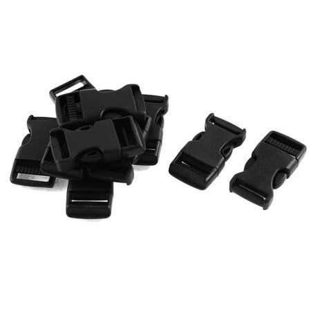 Plastique Safety c té Libération Rapide Boucles 1.9cm 10 pièces Noir - image 2 de 2