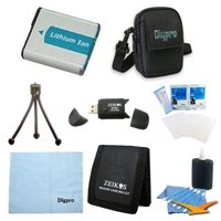 Special EN-EL12 Battery Kit Deluxe Case, Table-top Tripod, USB 2.0 SD card Reader, Lens Cleaning Kit, Micro Fiber Cloth, Screen Protectors, Memory Card Wallet Nikon S6300 AW100 S8200 AW110 S70 S6000 S