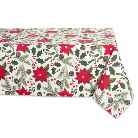 Design Imports Formal Rectangle Woodland Christmas Kitchen Tablecloth, 84