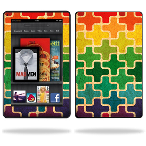 "Mightyskins Protective Vinyl Skin Decal Cover for Amazon Kindle Fire 7"" inch Tablet wrap sticker skins Color Swatch"