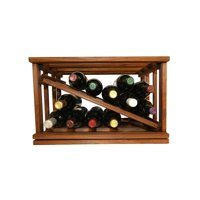 Wine Cellar Innovations  Mini-Stack Series Walnut-stained Wood Stackable Open Diamond Wine Rack