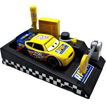 Pit Row Race (Disney Cars Pit Row Race-Off RPM No. 64 1:55 Diecast Car [Includes Launcher] )