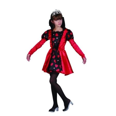 Queen Of Hearts Red Costume - Size Child Large (Children's Queen Of Hearts Fancy Dress Costume)