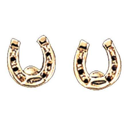 Basset Hound Earring (246231 Horseshoe Earrings Gold Plate)