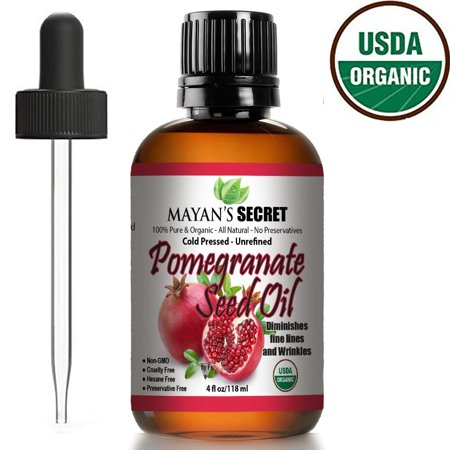 - Organic Pomegranate Seed Oil for Skin Repair - Cold Pressed and Pure Rejuvenating Oil for Skin, Hair and Nails