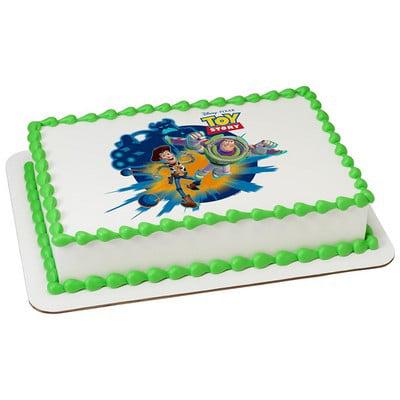 Marvelous Toy Story 3 Party Cake Decoration Edible Frosting Photo Sheet Personalised Birthday Cards Arneslily Jamesorg