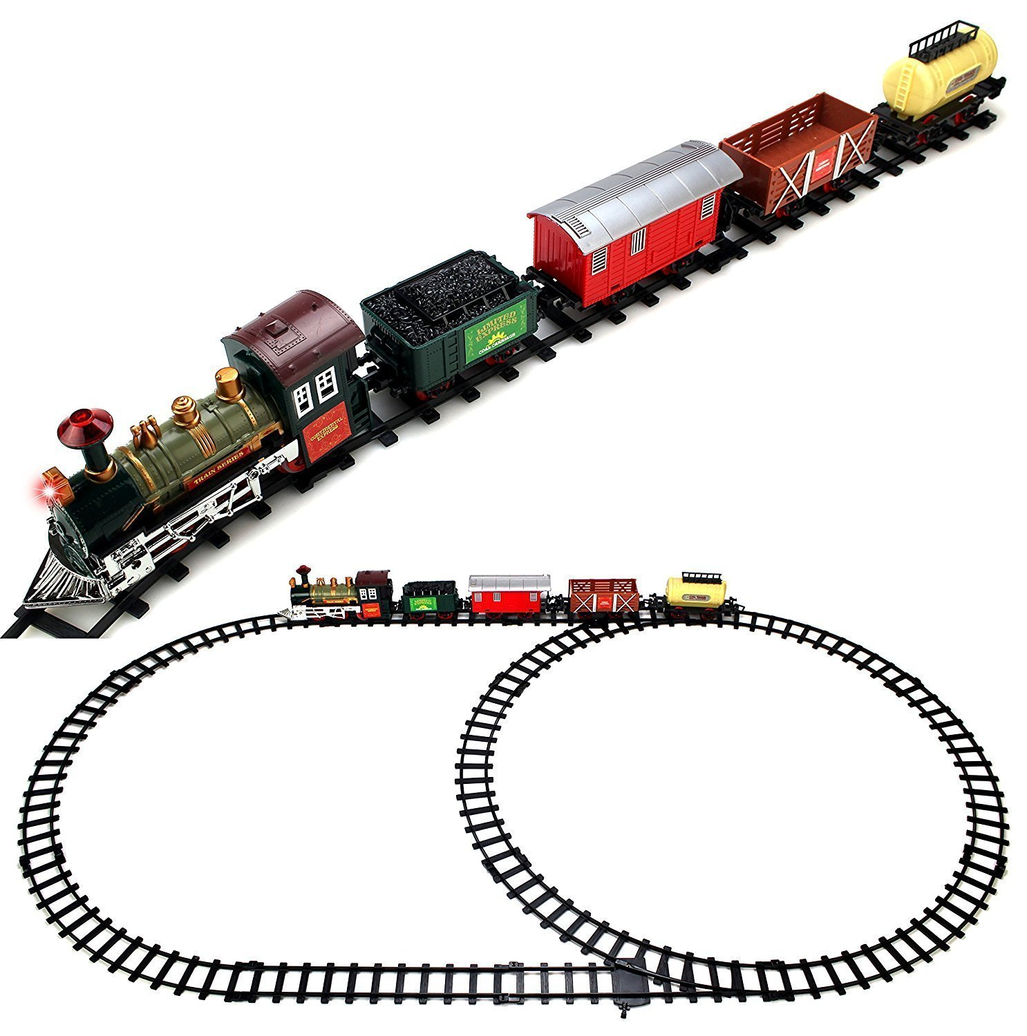 Retro Continental Express 16 Pcs Battery Operated Toy Train Set
