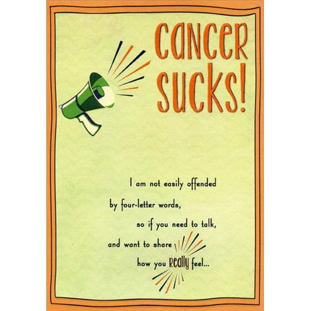 Designer Greetings Cancer Sucks Support Card - Cancer Sucks Bracelets