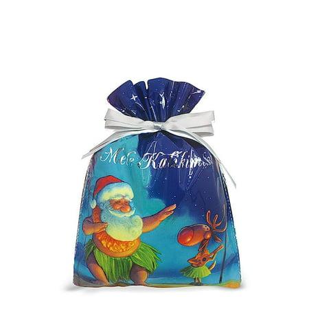 Hawaiian Drawstring Large Holiday Gift Bags 3 Pack Santa Dances Hula - Walmart.com