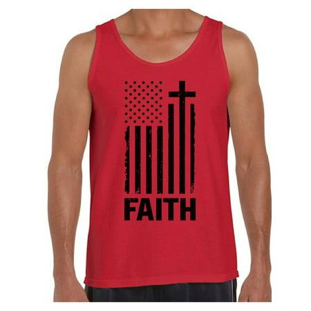 Awkward Styles Faith Black USA Flag Men Tank Top USA Pride 4th of July Shirt for Men Stripes and Stars Vintage USA Faith Men Tank United States of America 4th (Farah Vintage Usa)