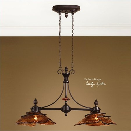 Uttermost Vitalia 2 Light Kitchen Island Light in Oil Rubbed Bronze - image 2 of 2