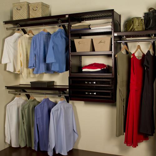 John Louis Home Woodcrest 12 in. D Closet System